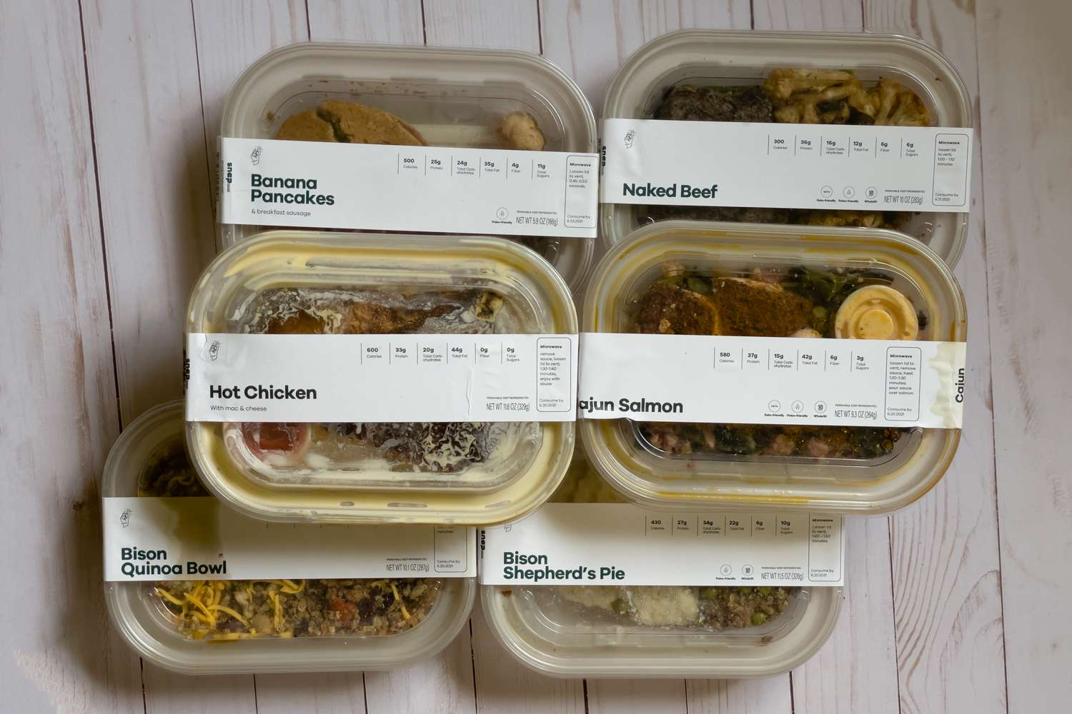 Snap Kitchen meals in packaging
