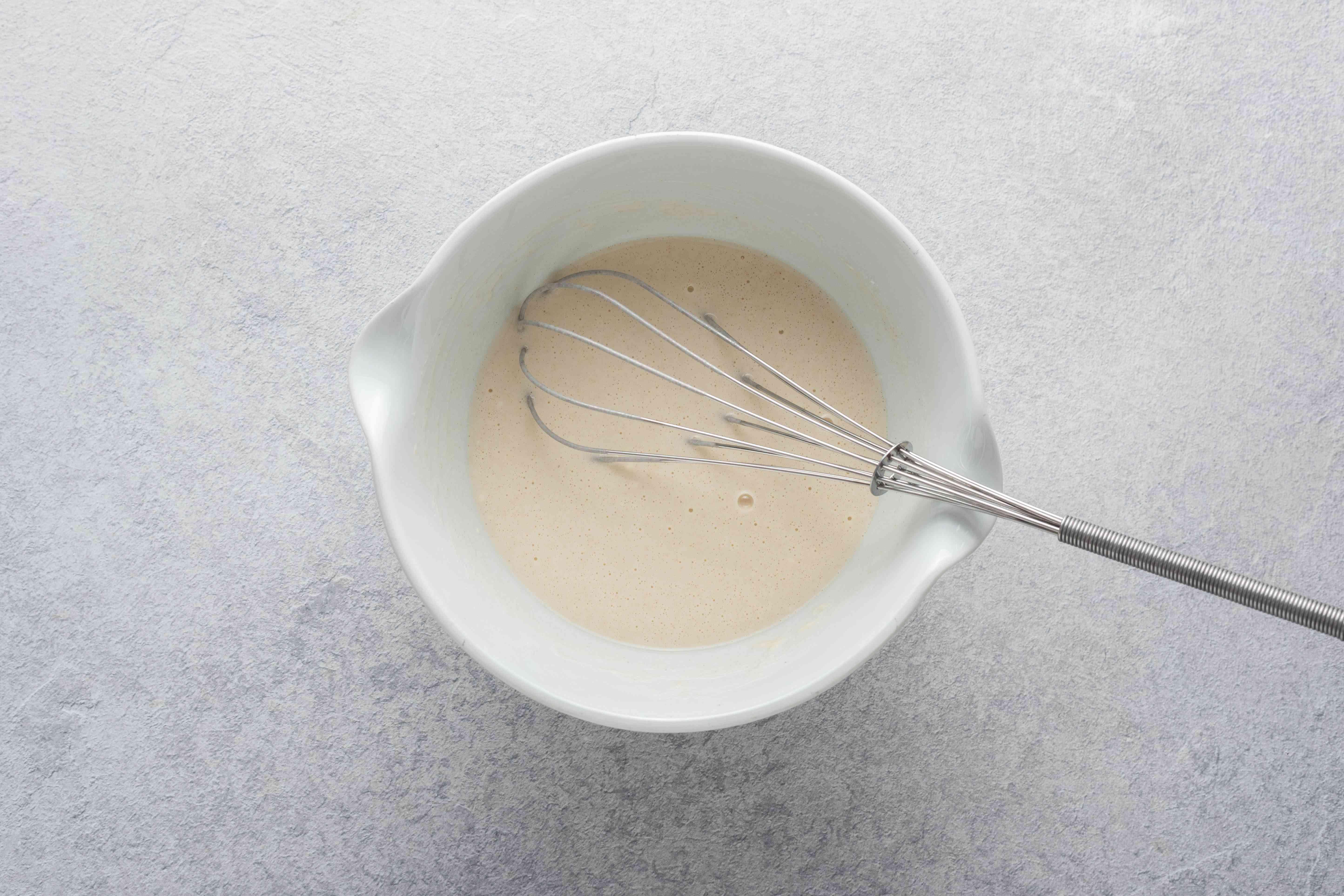 flour, vinegar, salt, and water in a medium bowl