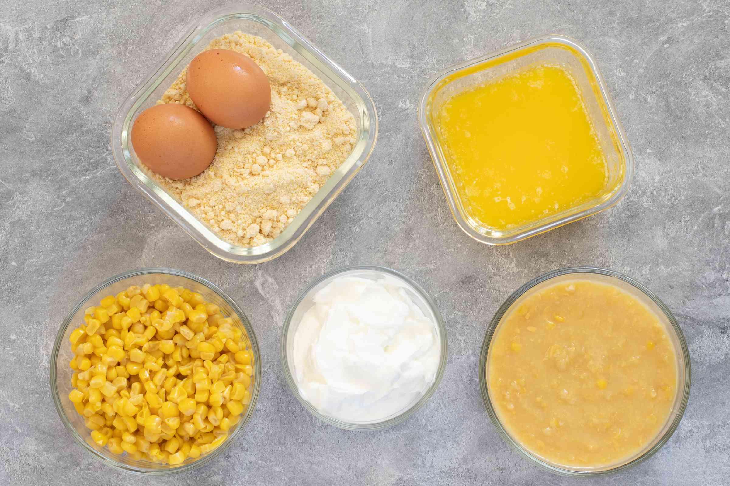 ingredients for cornbread casserole