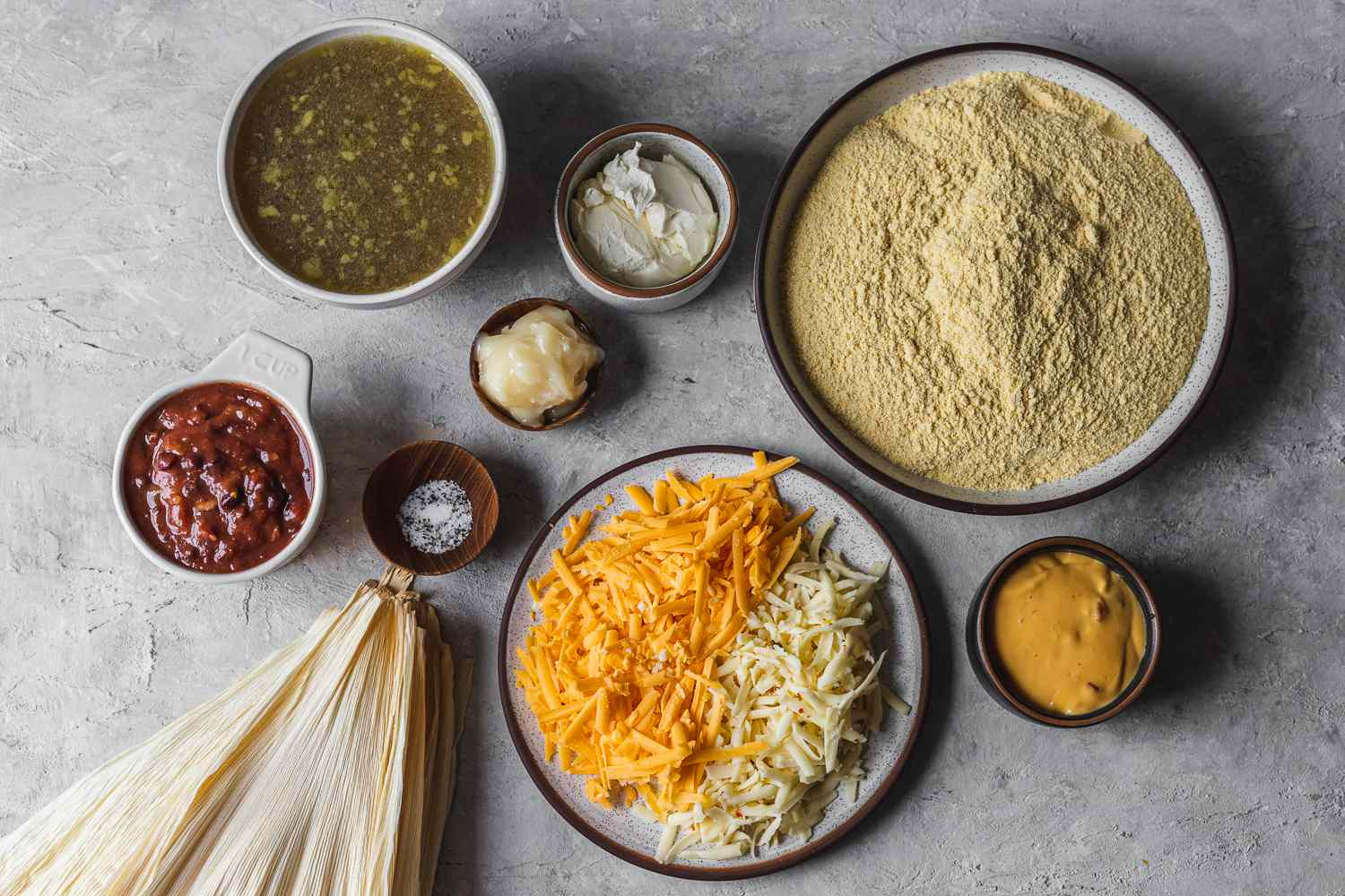 Quick and Easy Cheese Tamales ingredients