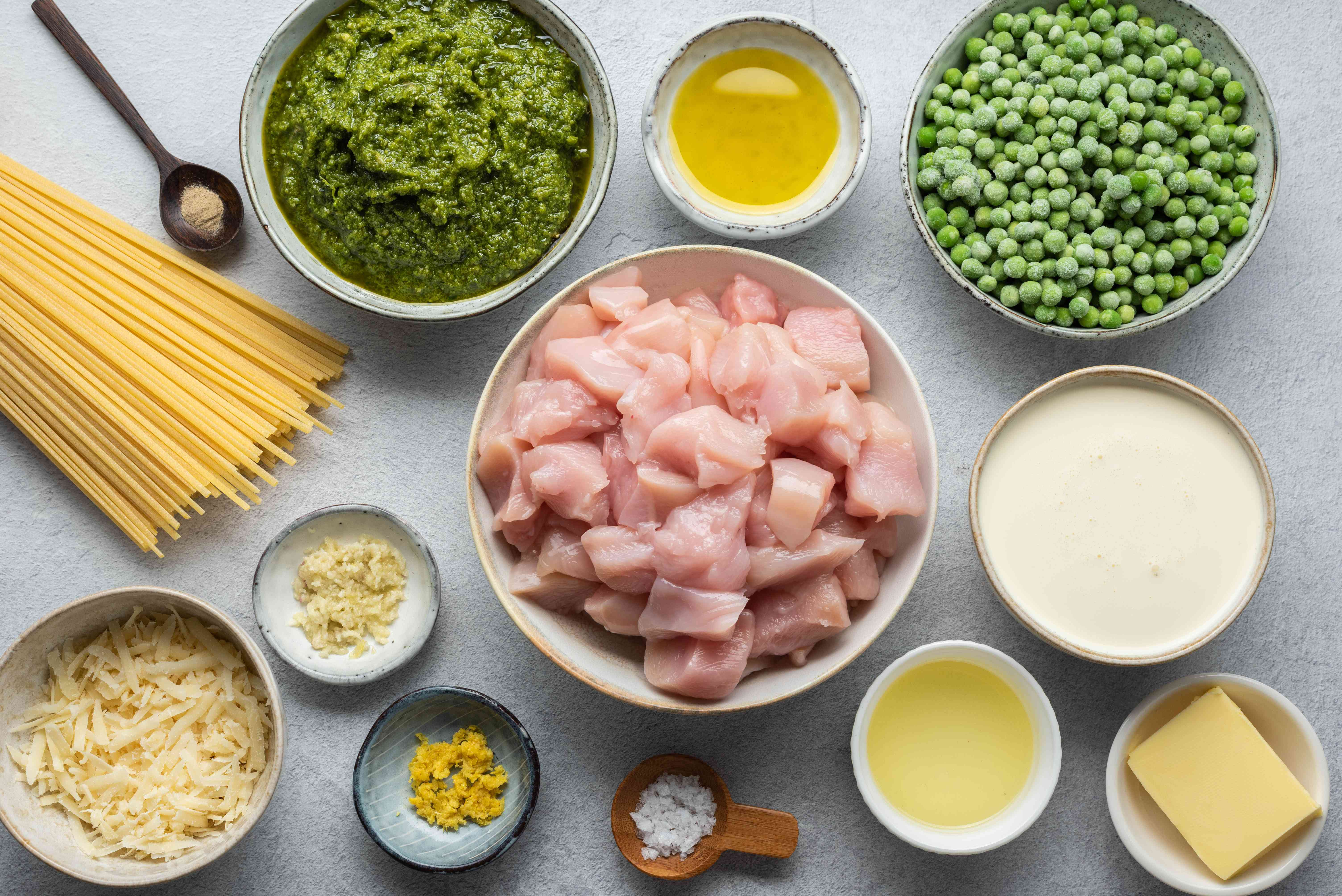 Chicken and Pasta With Lemon Pesto ingredients