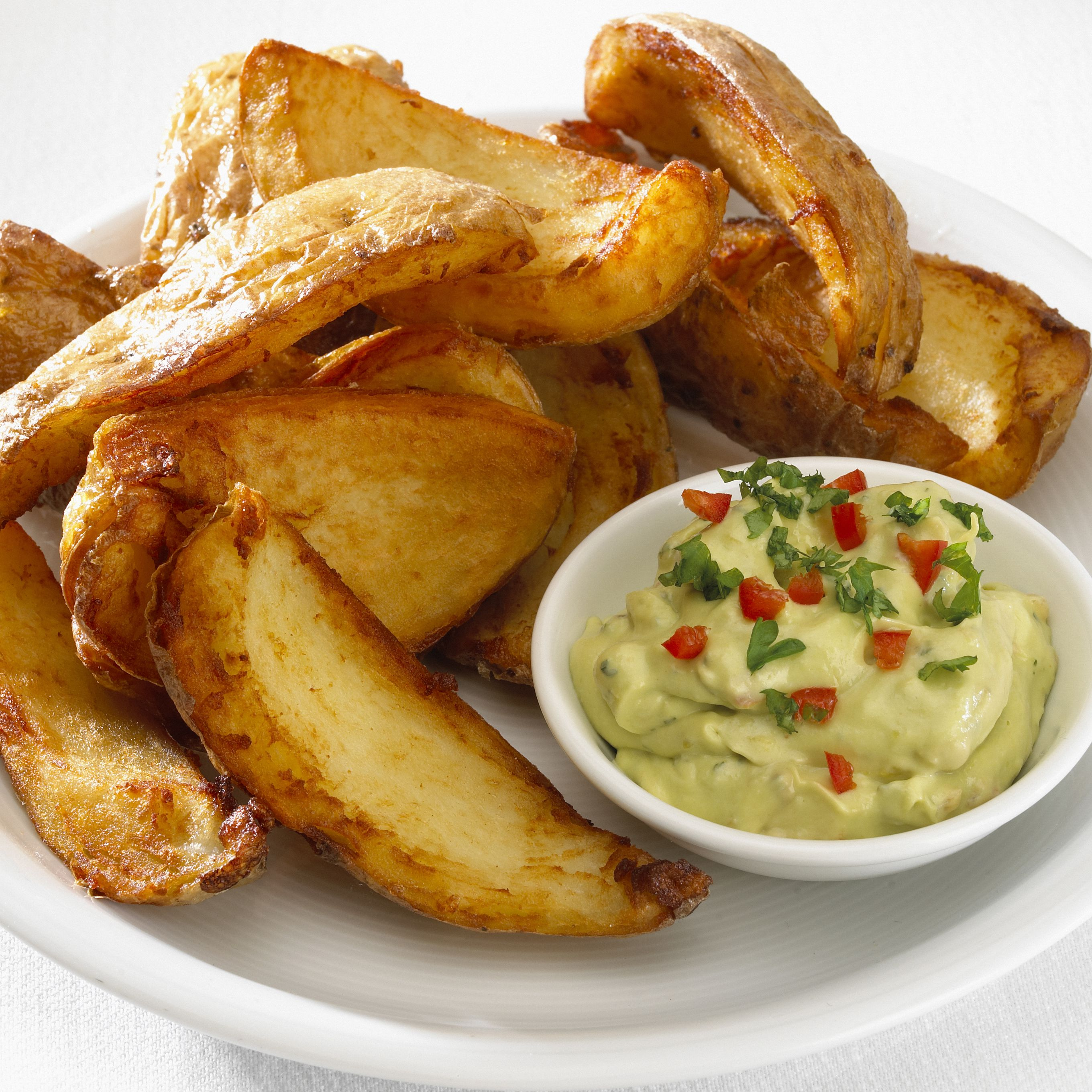 Deep Fried Potato Skins Recipe With Dips And Toppings