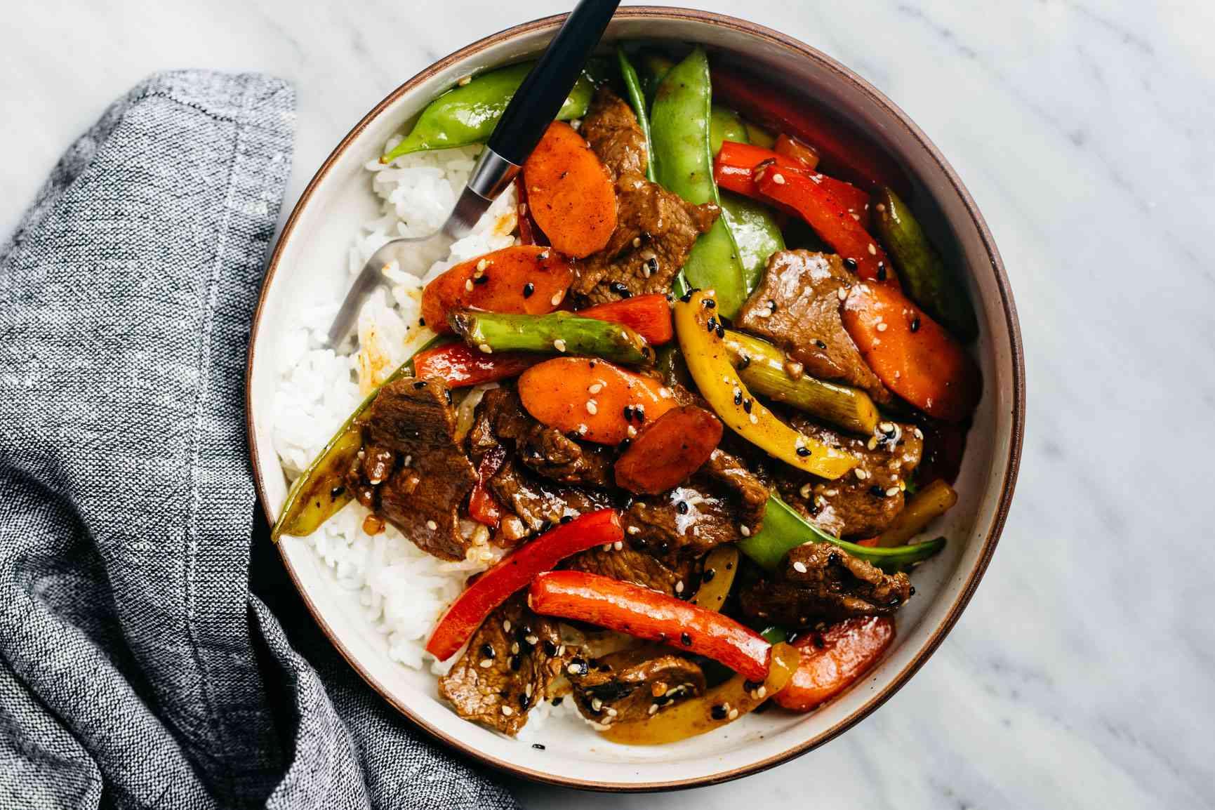 Sweet and Sour Steak Stir Fry