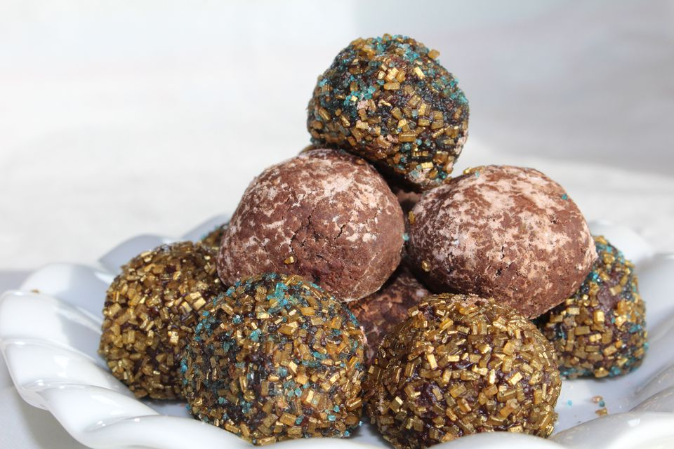 Israeli chocolate cookie truffles, or kadorei shokolad
