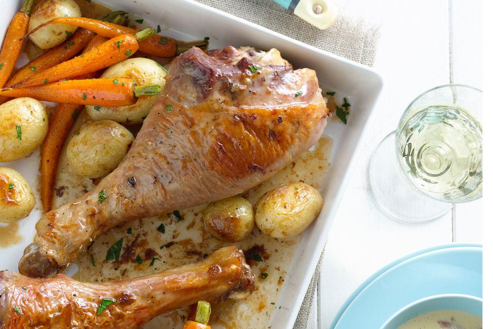 Turkey Legs With Vegetables