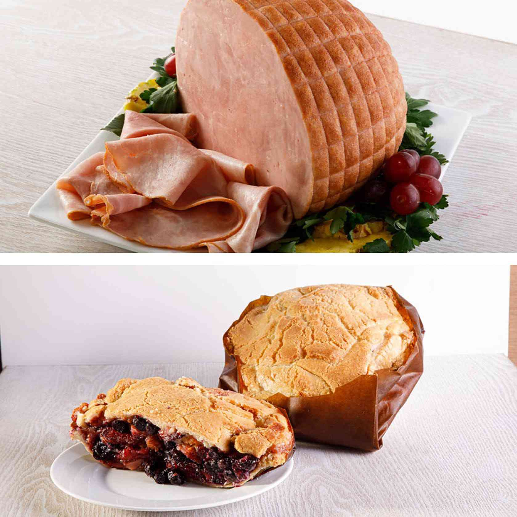 The Elegant Farmer Half Ham and Apple Pie Baked in a Paper Bag