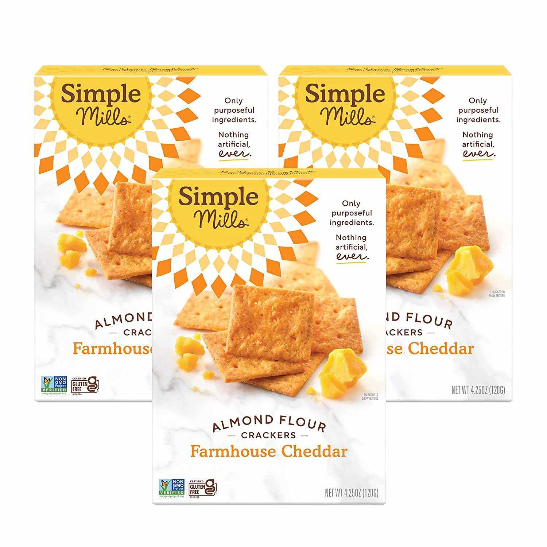 Simple Mills Farmhouse Cheddar Almond Flour Crackers