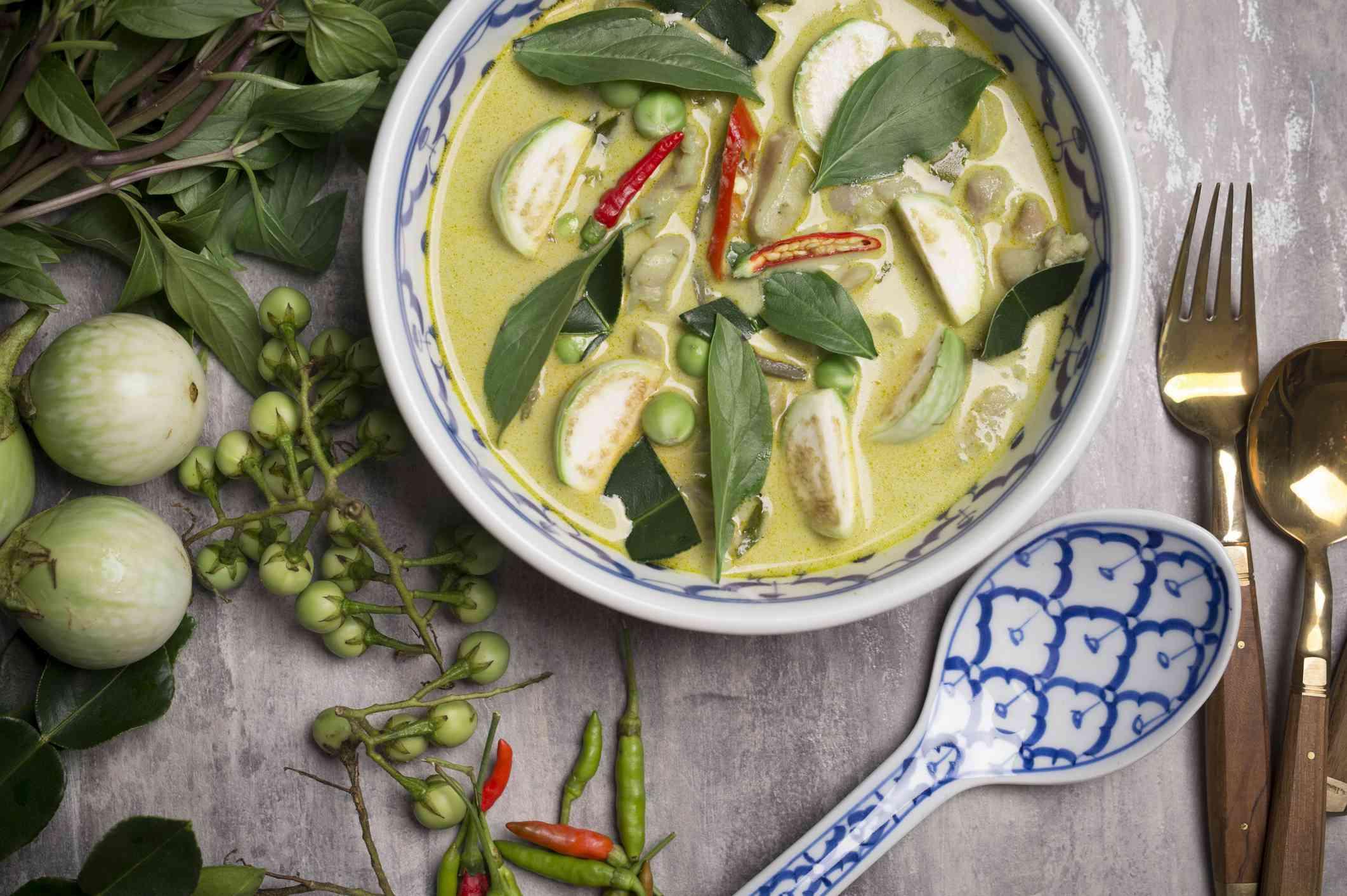 Thai vegan coconut soup