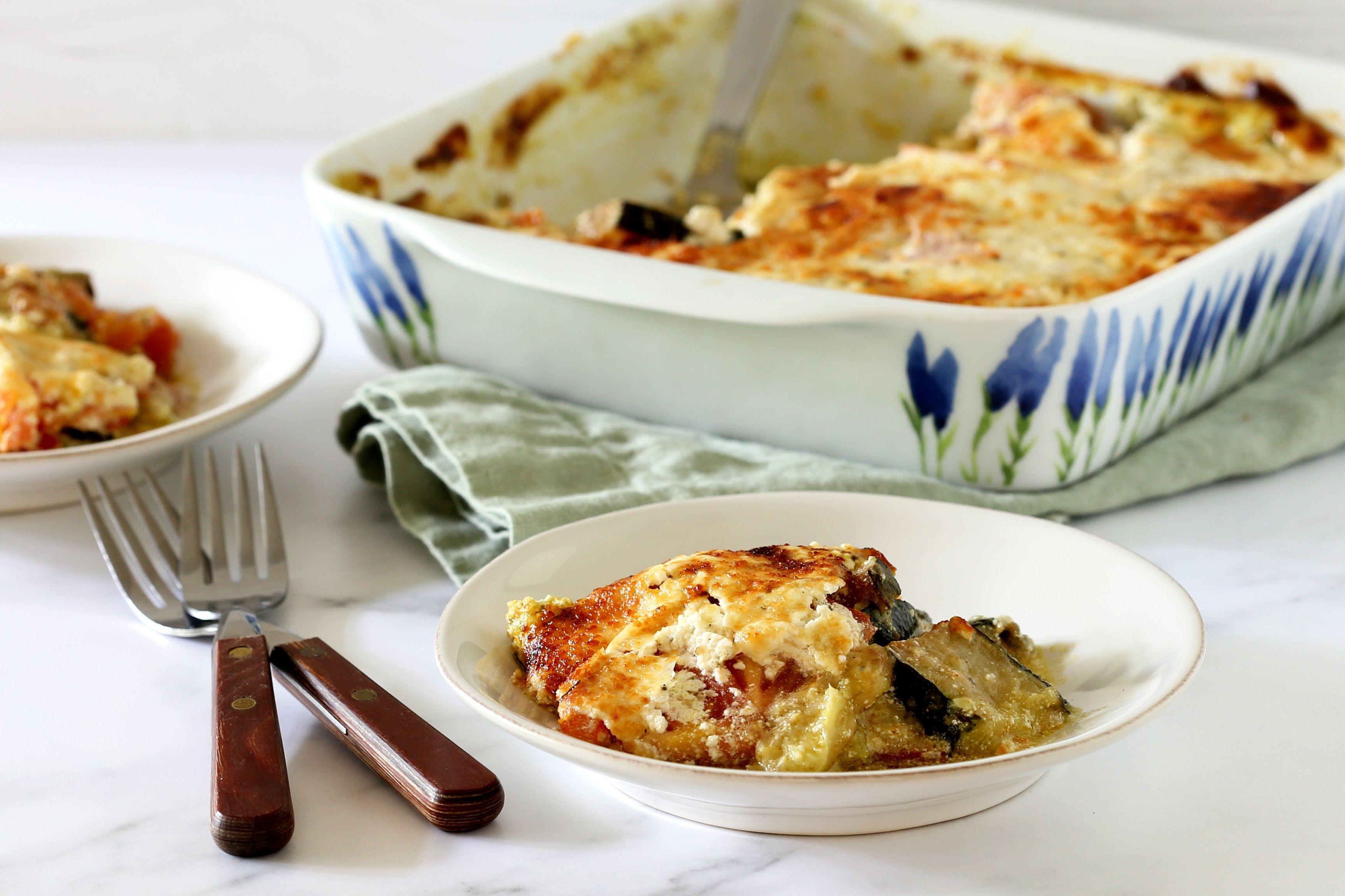 Vegetarian Baked Zucchini Parmesan